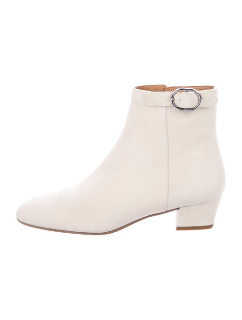 Aquatalia Suede Ankle Boots. w/ Tags White