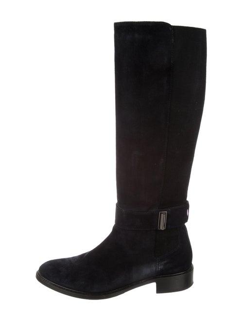 Aquatalia Suede Knee-High Boots Navy