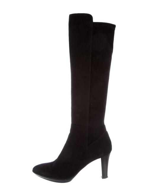 Aquatalia Suede Knee-High Boots Black