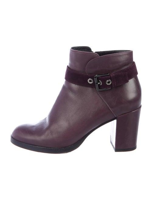 Aquatalia Leather Boots Purple