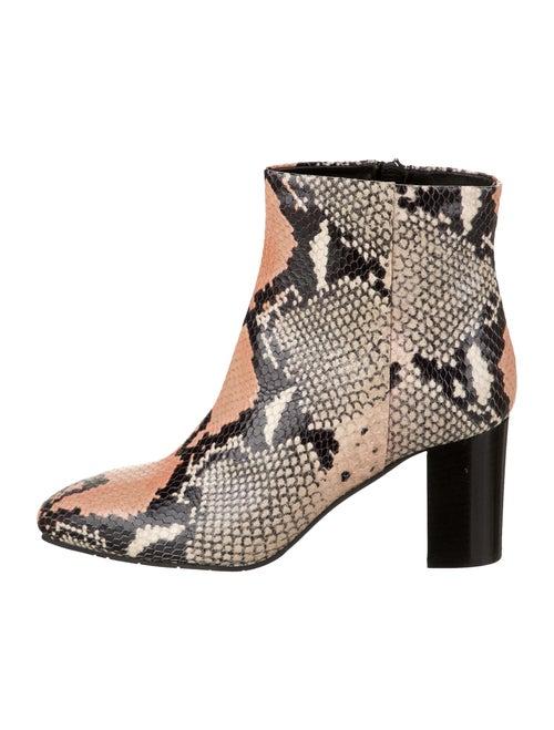 Aquatalia Snakeskin Animal Print Boots