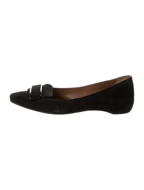 Aquatalia Suede Ballet Flats Black