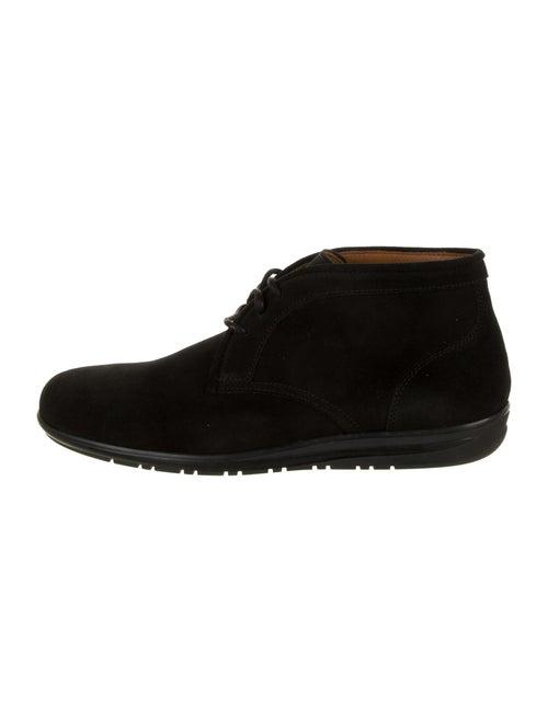 Aquatalia Suede Lace-Up Boots Black