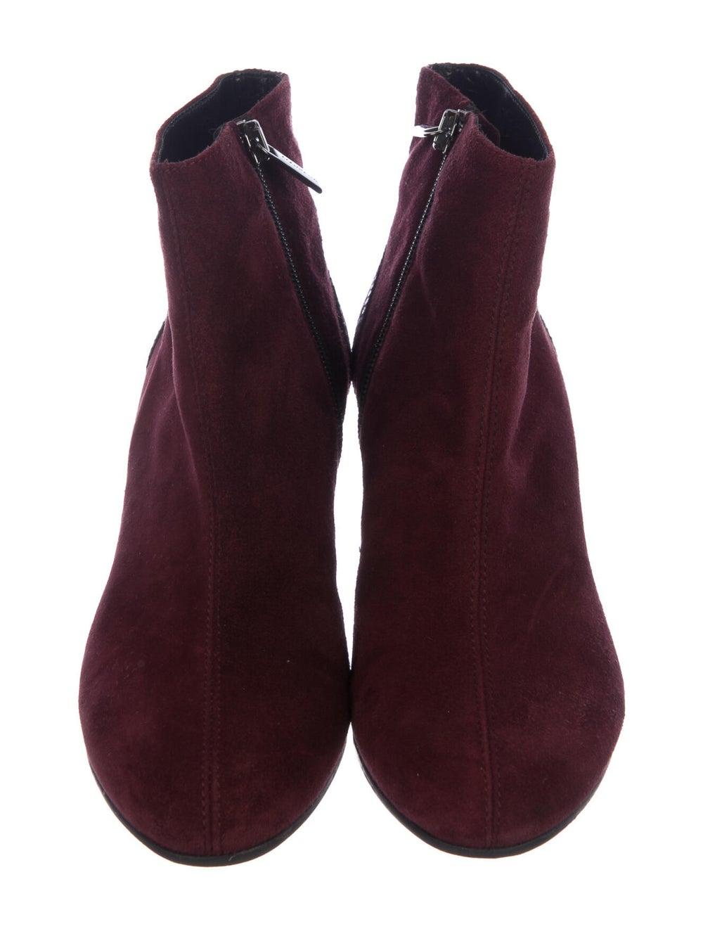 Aquatalia Embossed Suede Boots Red - image 2