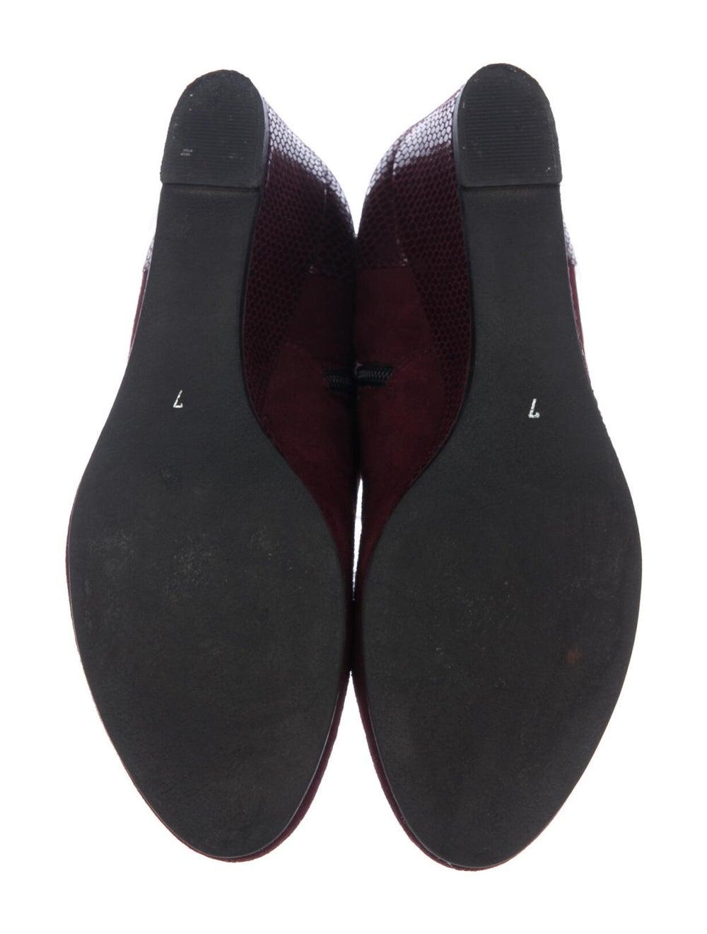 Aquatalia Embossed Suede Boots Red - image 4