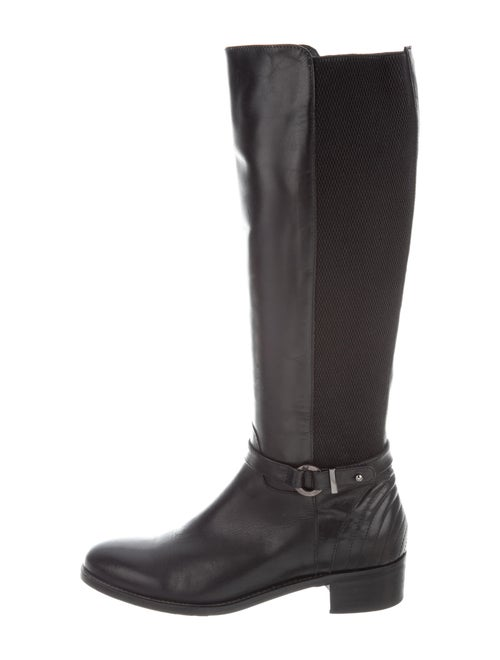 Aquatalia Leather Riding Boots Black