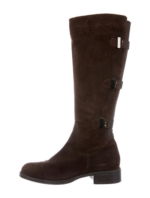 Aquatalia Suede Riding Boots Brown