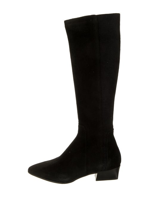 Aquatalia Suede Riding Boots Black