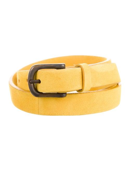Arjé Nic Suede Belt w/ Tags Yellow