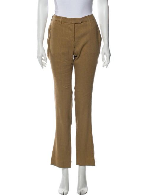 Arjé Linen Flared Pants Brown