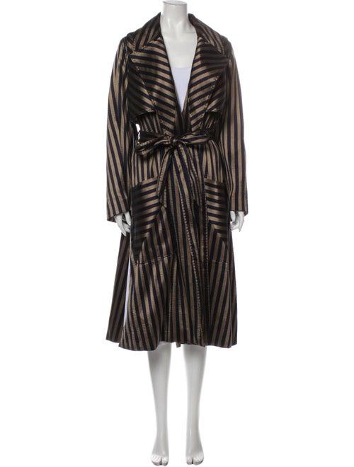 Arjé Striped Coat Gold