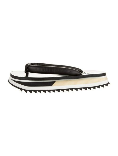Artselab Leather Thong Sandals Black