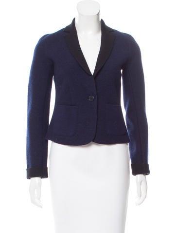 Armani Exchange Wool Notched Lapel Jacket None