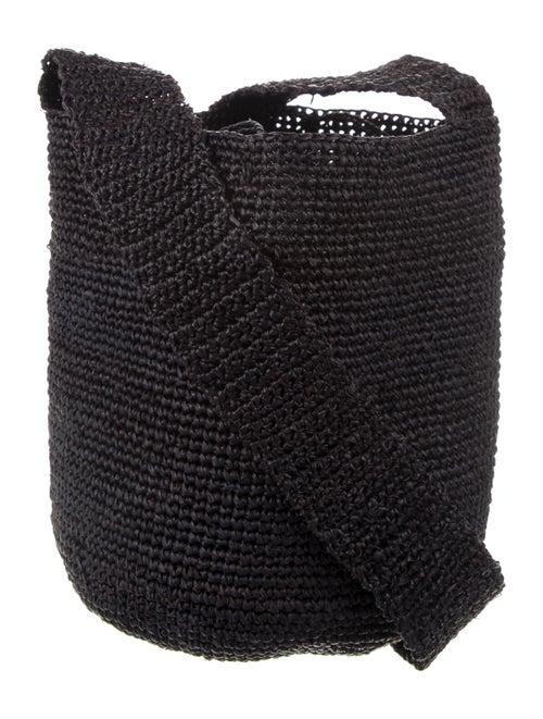 Artesano Straw Crossbody Bag Black