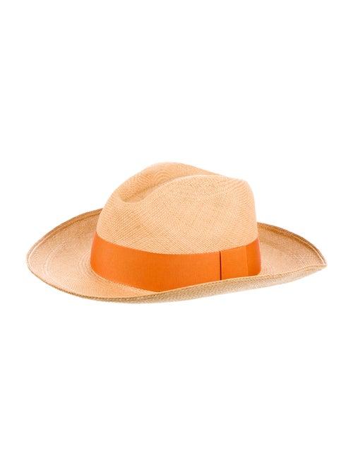 Artesano Straw Wide Brim Hat orange - image 1