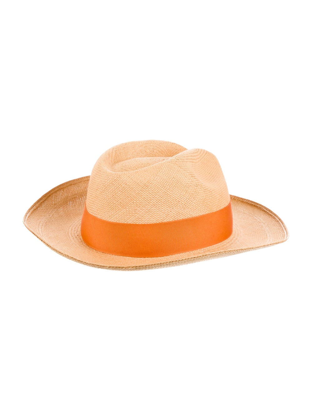 Artesano Straw Wide Brim Hat orange - image 2