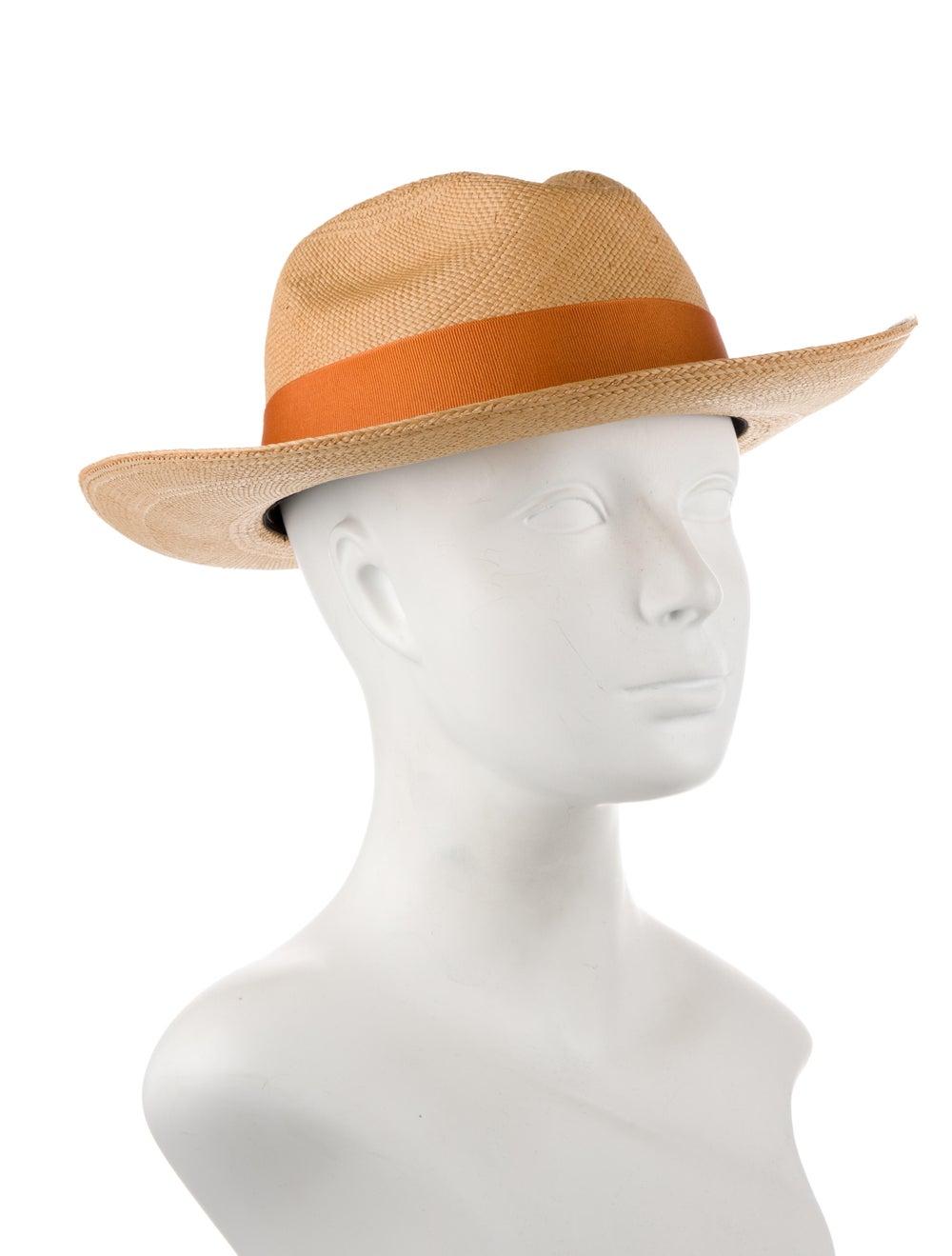 Artesano Straw Wide Brim Hat orange - image 3