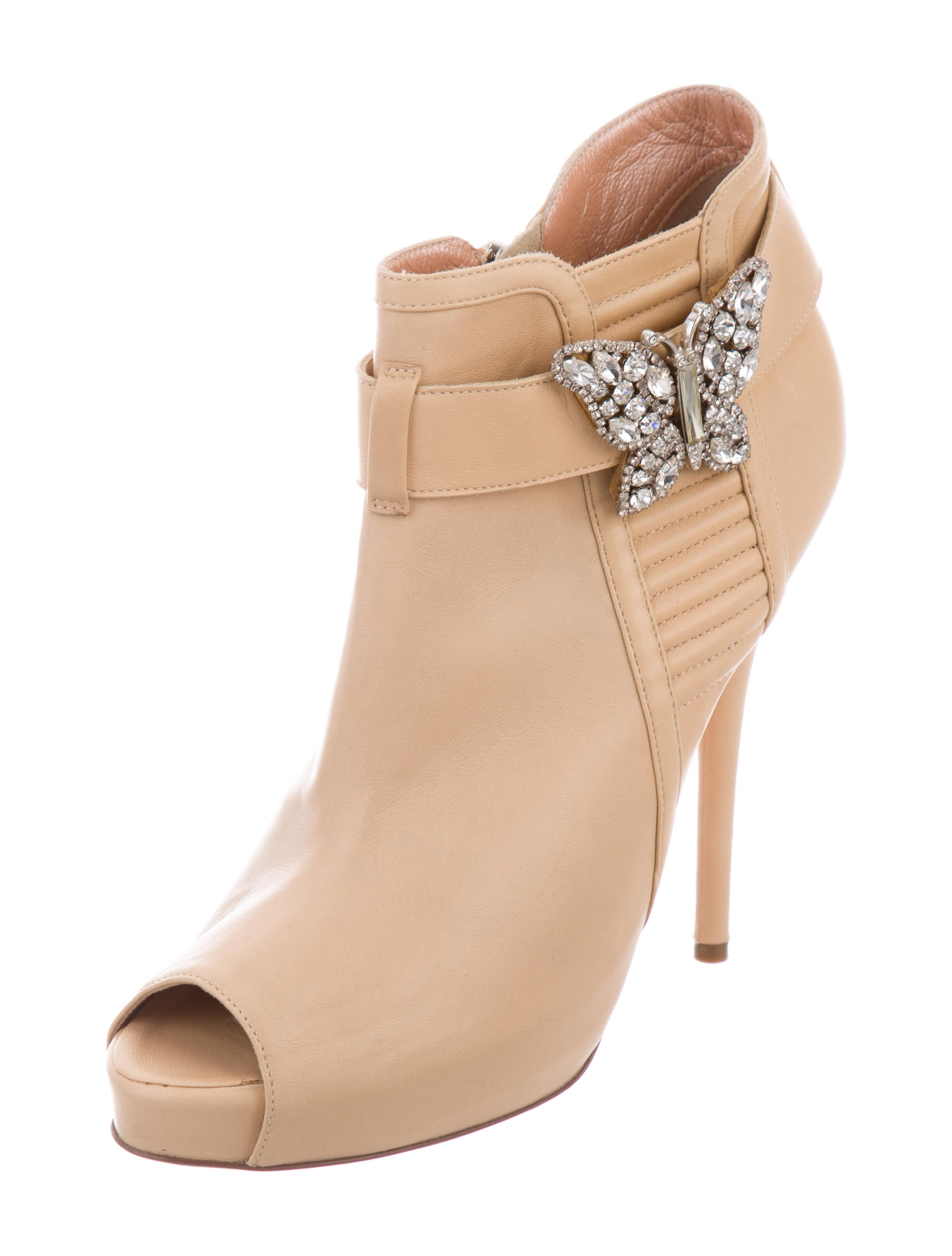 clearance reliable Aruna Seth Leather Jeweled Ankle Boots outlet footaction vkYzeifMsR