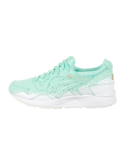 Asics Leather Printed Sneakers Green