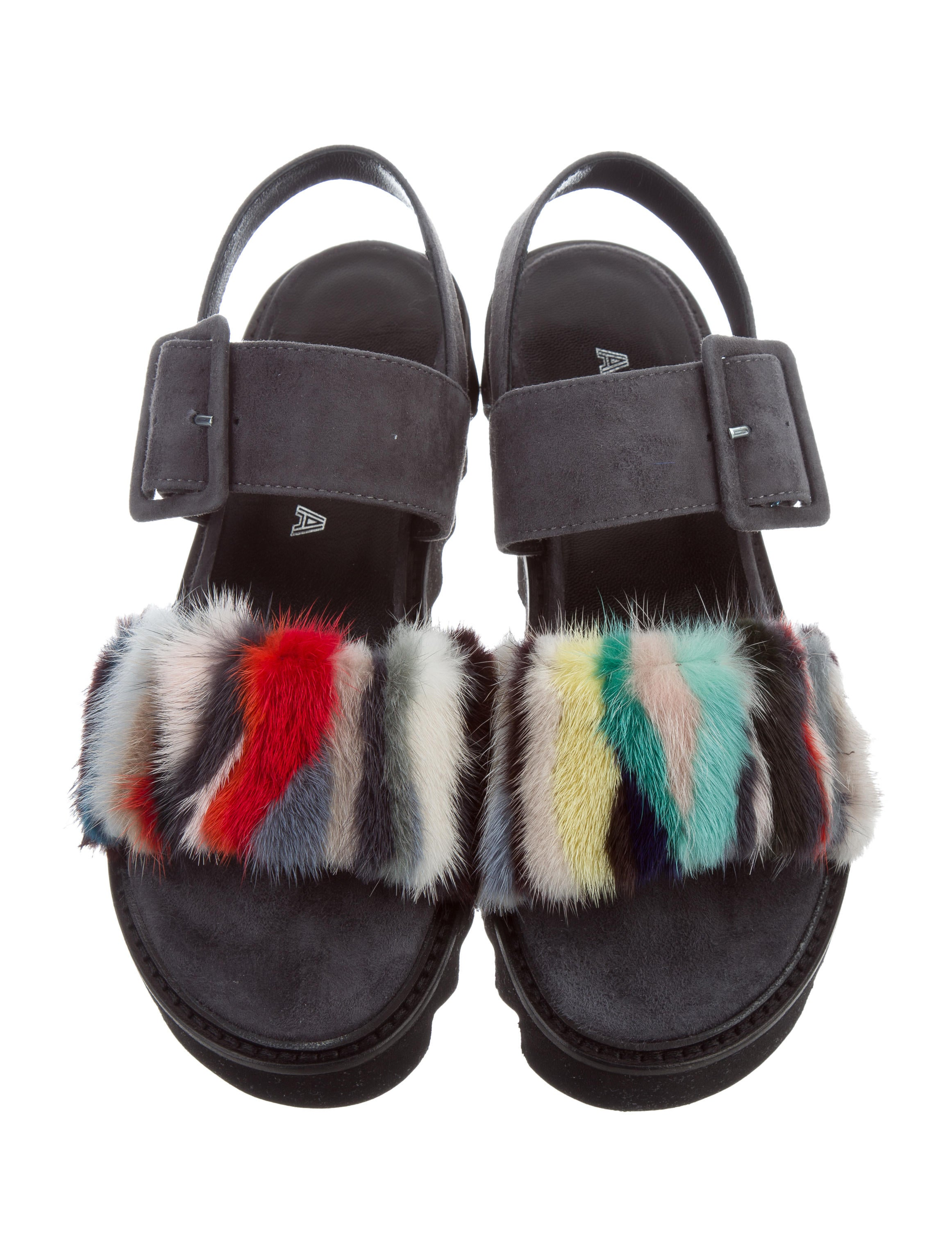 clearance online ebay Aska Eva Mink Sandals w/ Tags discount best store to get buy cheap purchase wJly7