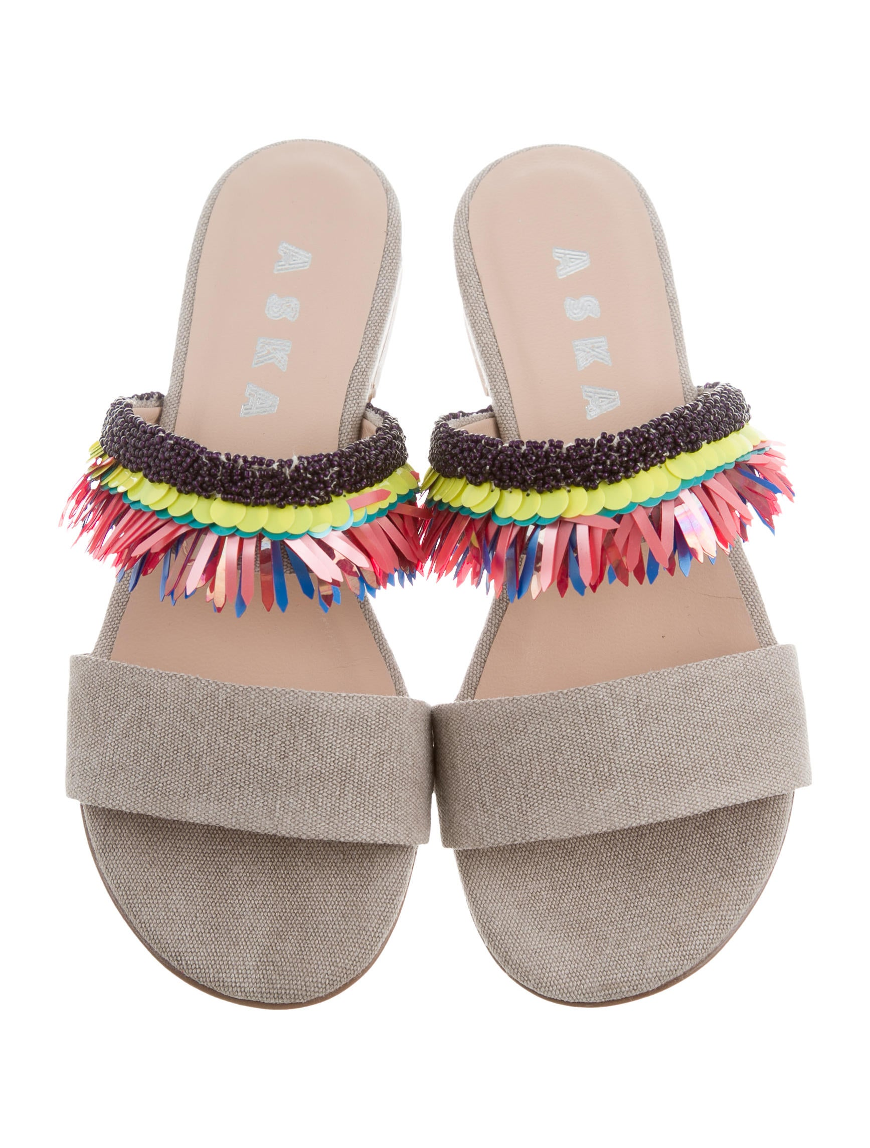 Aska Emme Bead-Embellished Sandals w/ Tags discount authentic online lZ2CS84JIe