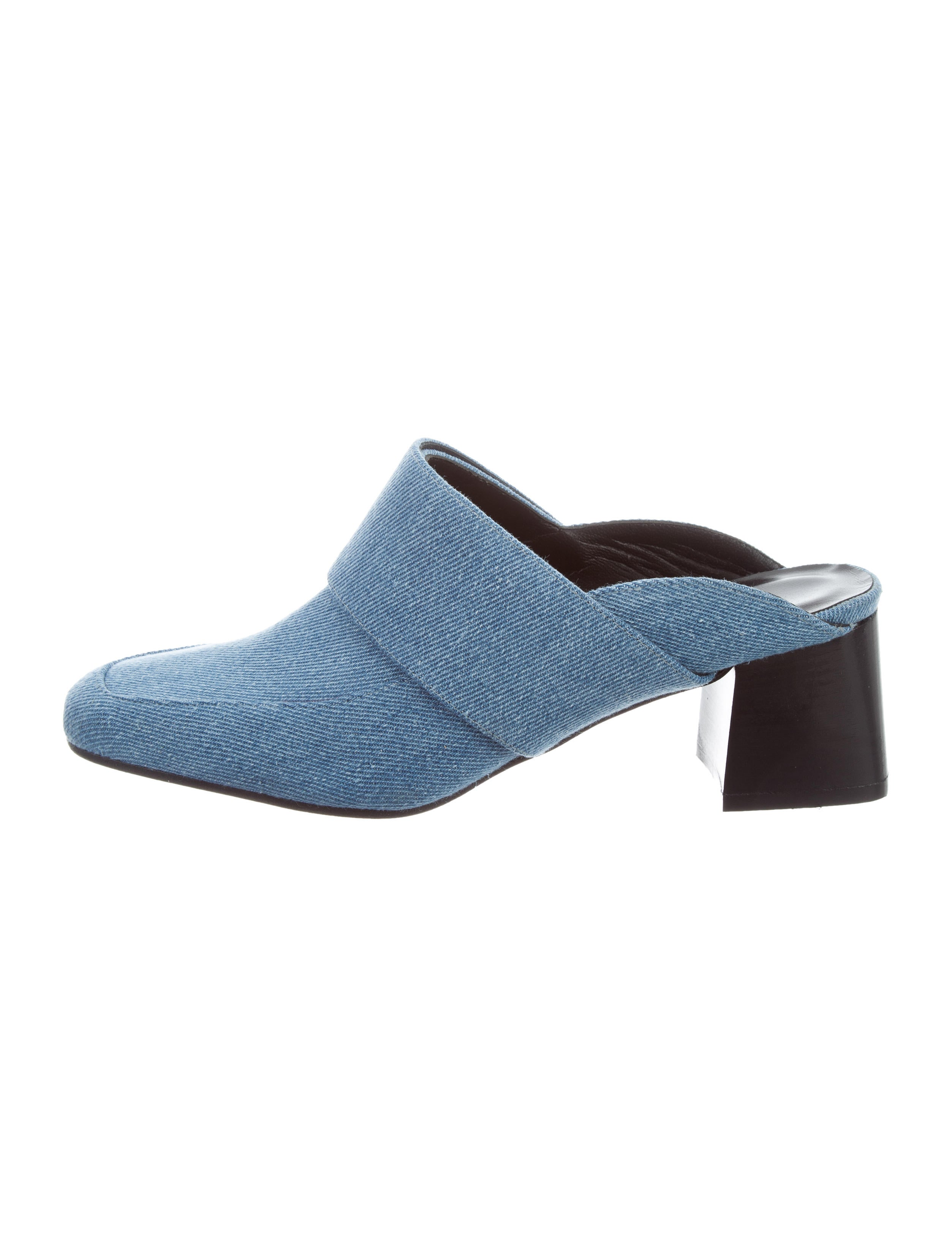 Aska Gwynne Denim Mules discount 2014 newest njuRE