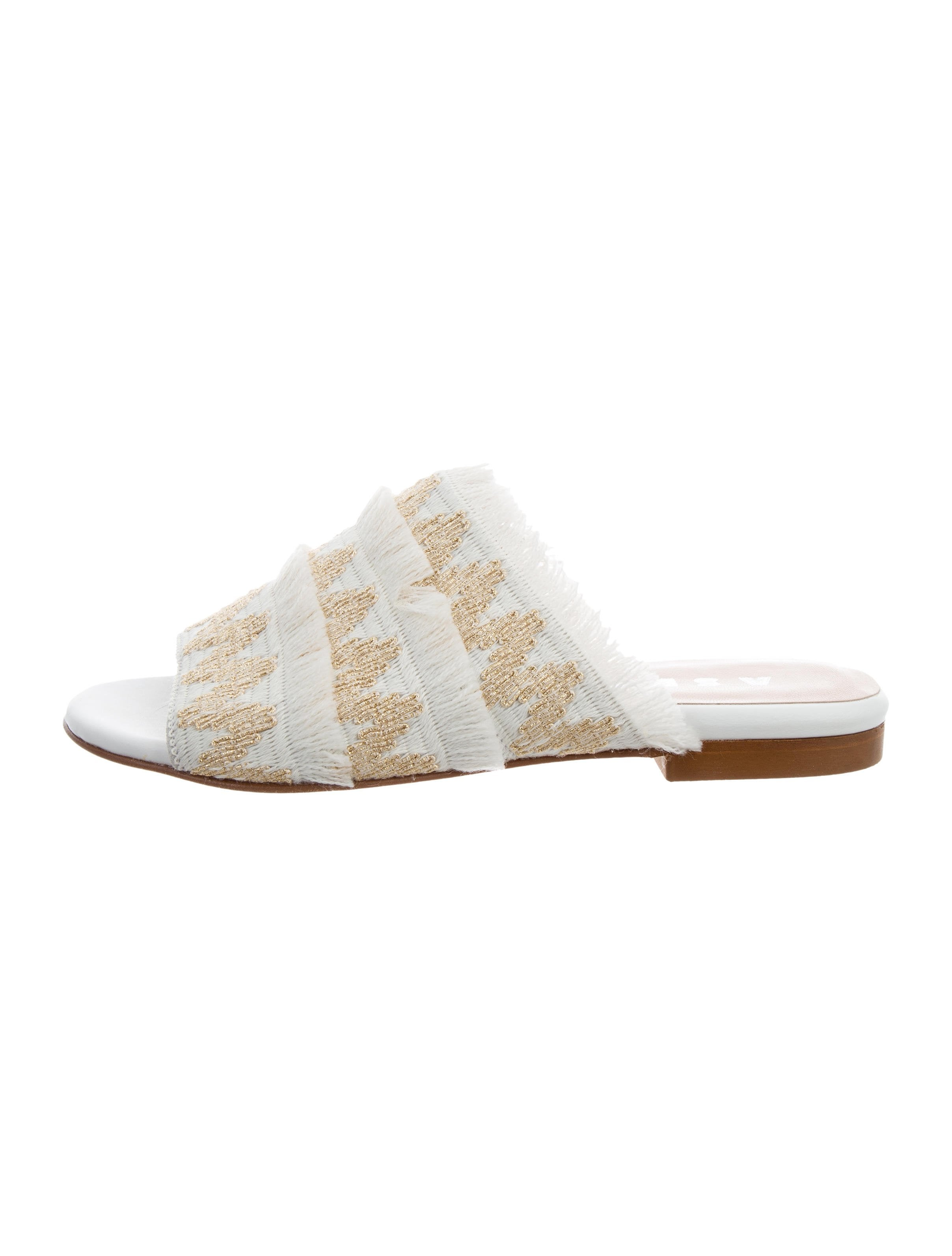 sale big sale pre order cheap price Aska Embroidered Slide Sandals w/ Tags UCG11f