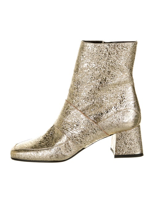 Aska Leather Boots Gold