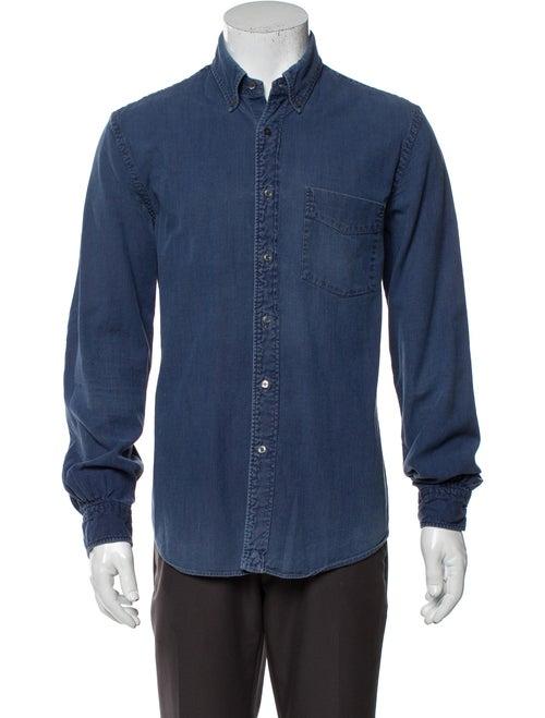 Aspesi Long Sleeve Denim Shirt Denim