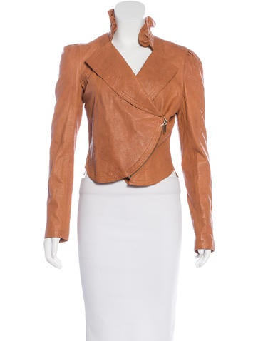 Alice by Temperley Cropped Leather Jacket w/ Tags