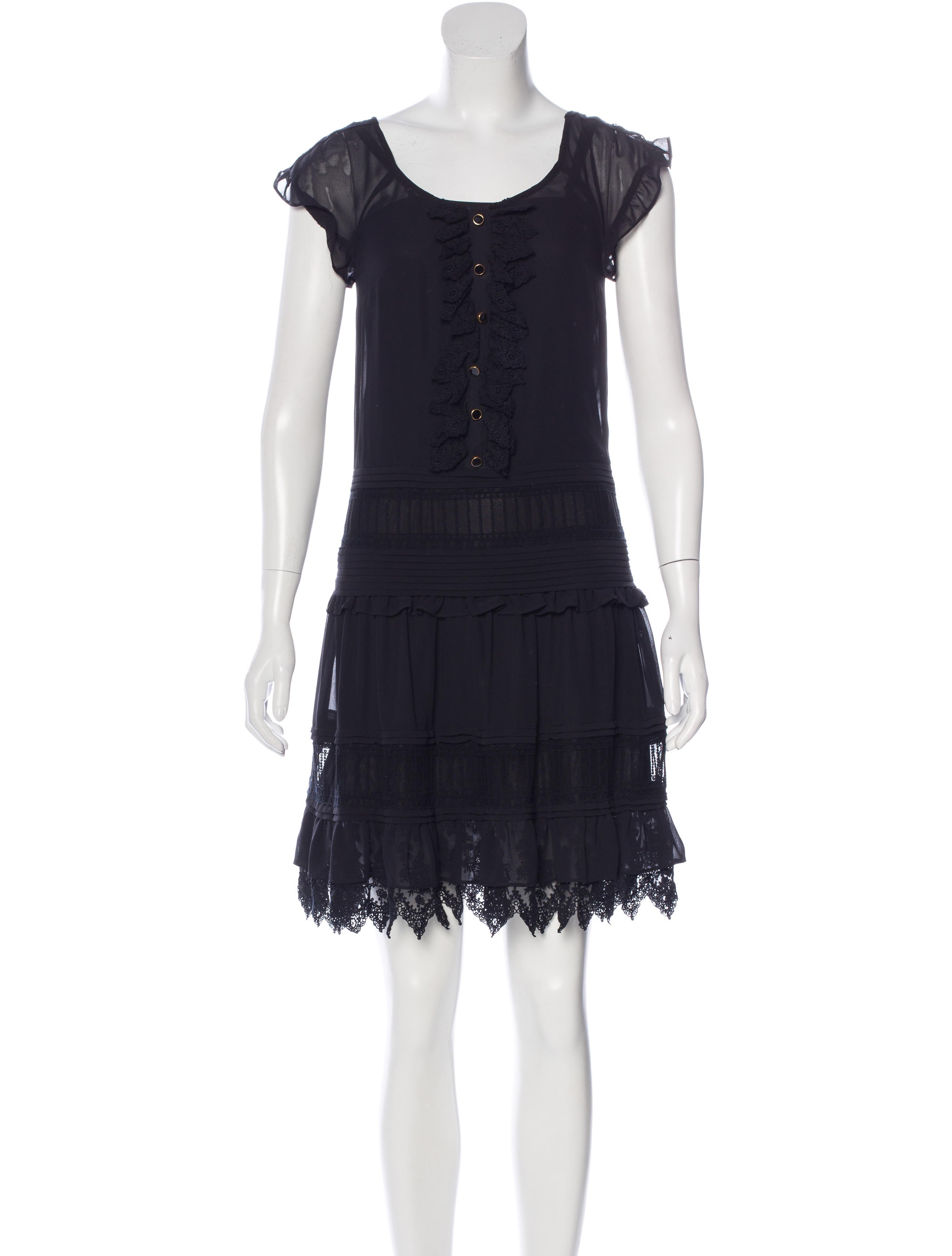 Alice By Temperley Sleeveless Ruffle Trimmed Dress W Tags