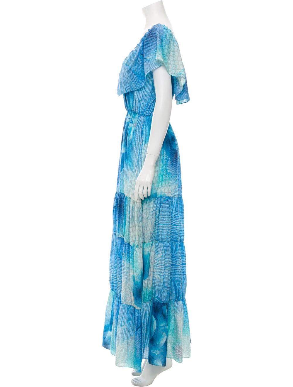 Athena Procopiou Printed Long Dress Blue - image 2