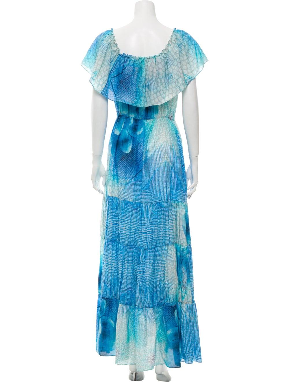 Athena Procopiou Printed Long Dress Blue - image 3