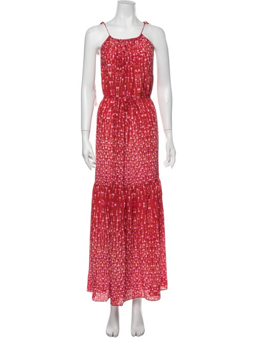 Athena Procopiou Silk Long Dress Red