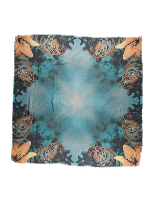 Athena Procopiou Printed Scarf Blue