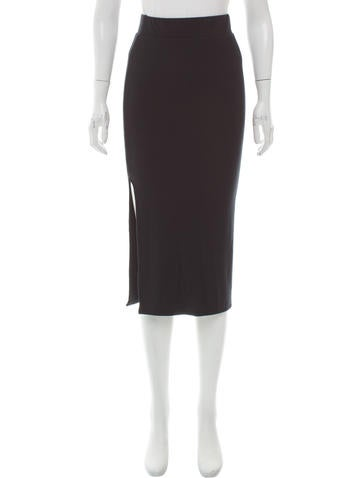 ATM Ribbed Knee-Length Skirt None