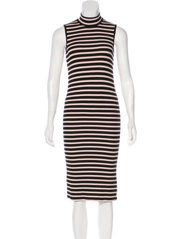 ATM Striped Rib Knit Dress None
