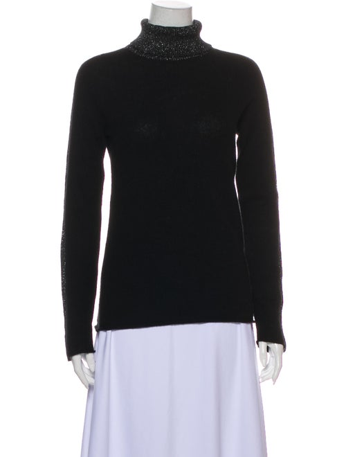 ATM Cashmere Turtleneck Sweater Black - image 1