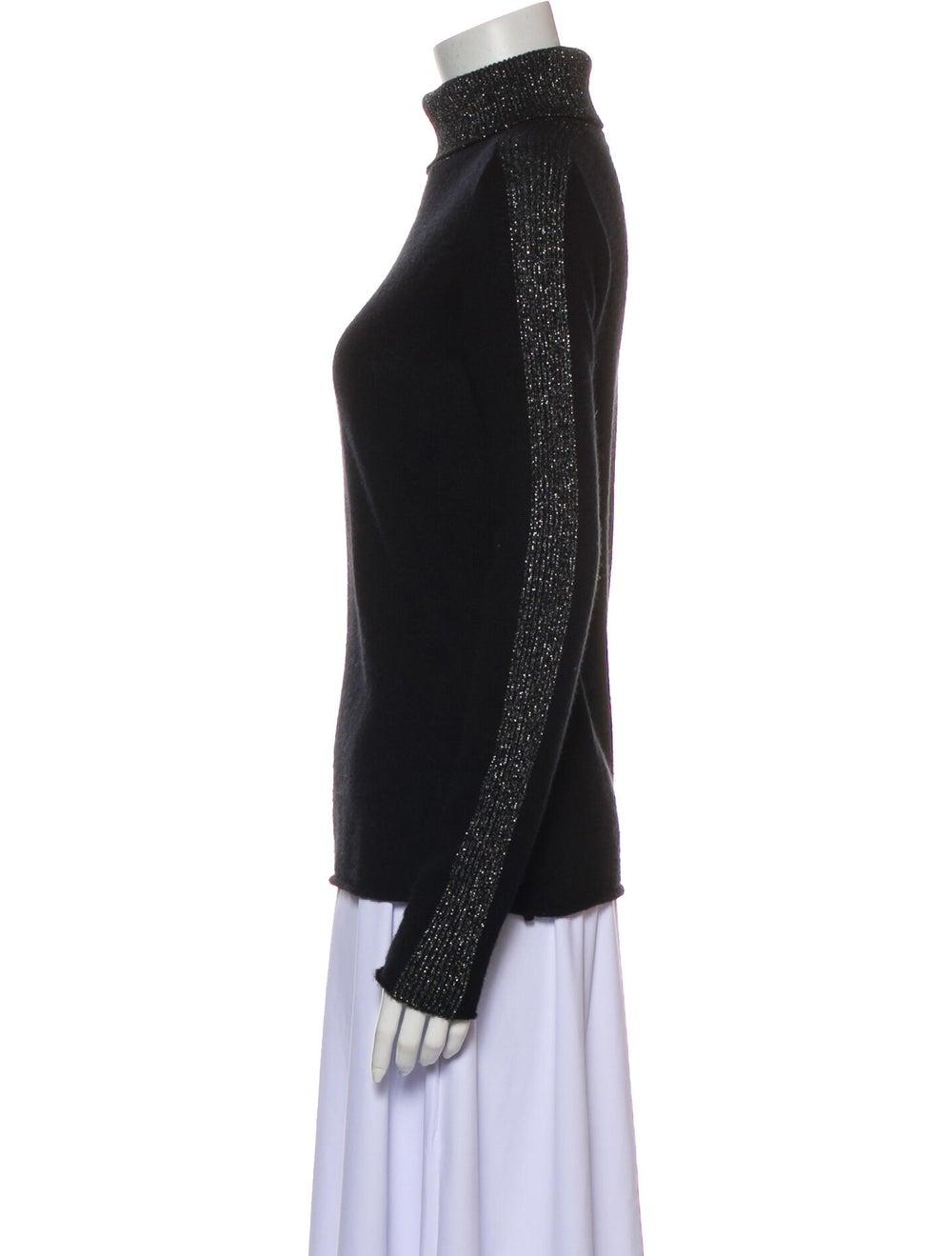 ATM Cashmere Turtleneck Sweater Black - image 2