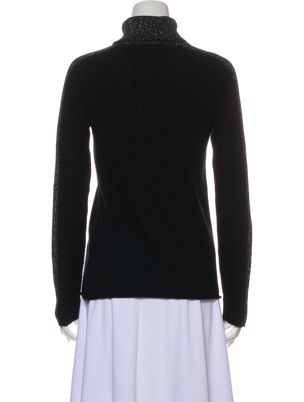 ATM Cashmere Turtleneck Sweater Black - image 3
