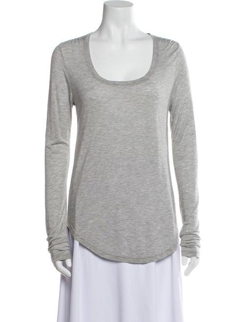 ATM Scoop Neck Long Sleeve Sweatshirt Grey