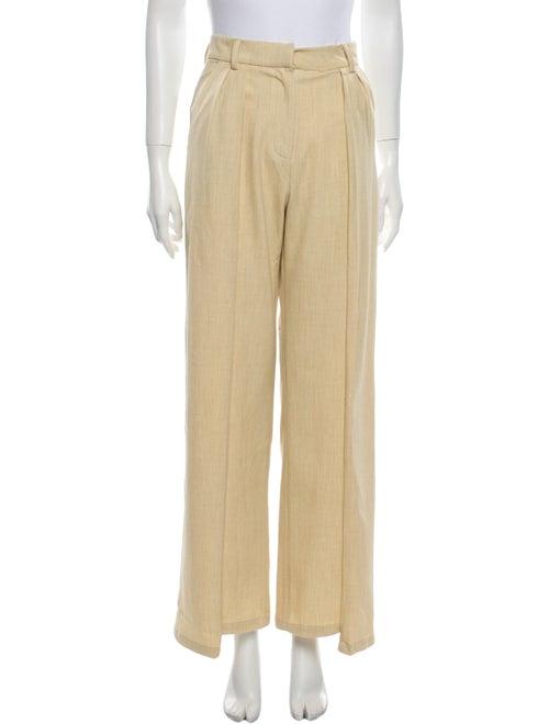 Atoir Wide Leg Pants Yellow
