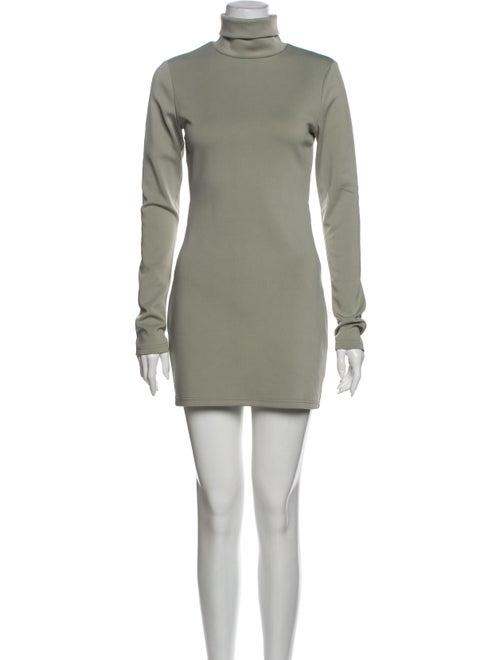 Atoir Turtleneck Mini Dress Green