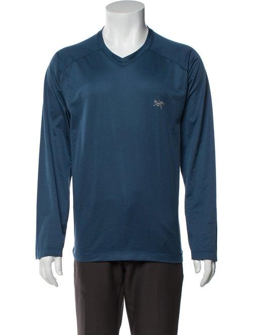Arc'Teryx V-Neck Long Sleeve T-Shirt Blue