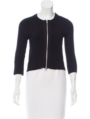 Autumn Cashmere Ribbed Zip-Up Sweater None