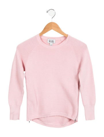 Autumn Cashmere Girls' Knit Zip-Accented Sweater None