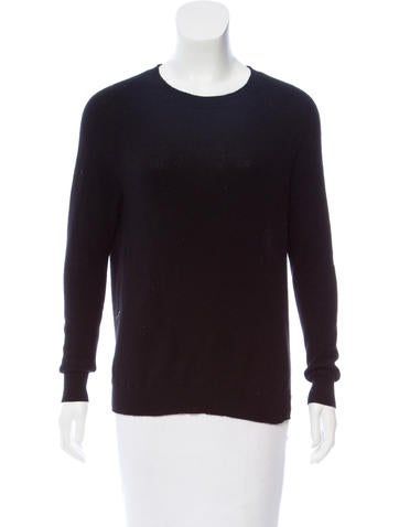 Autumn Cashmere Slit-Accented High-Low Sweater None