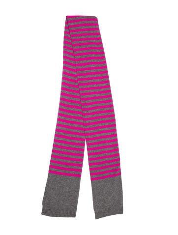 Autumn Cashmere Striped Fine Knit Scarf None
