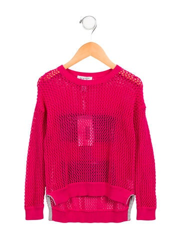 Autumn Cashmere Girls' Open Knit Rock n Roll Sweater w/ Tags None