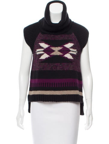 Autumn Cashmere Intarsia Patterned Cashmere-Blend Top None